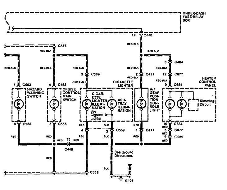 Acura Integra (1995) - wiring diagrams - interior lighting -  Carknowledge.infoCarknowledge.info