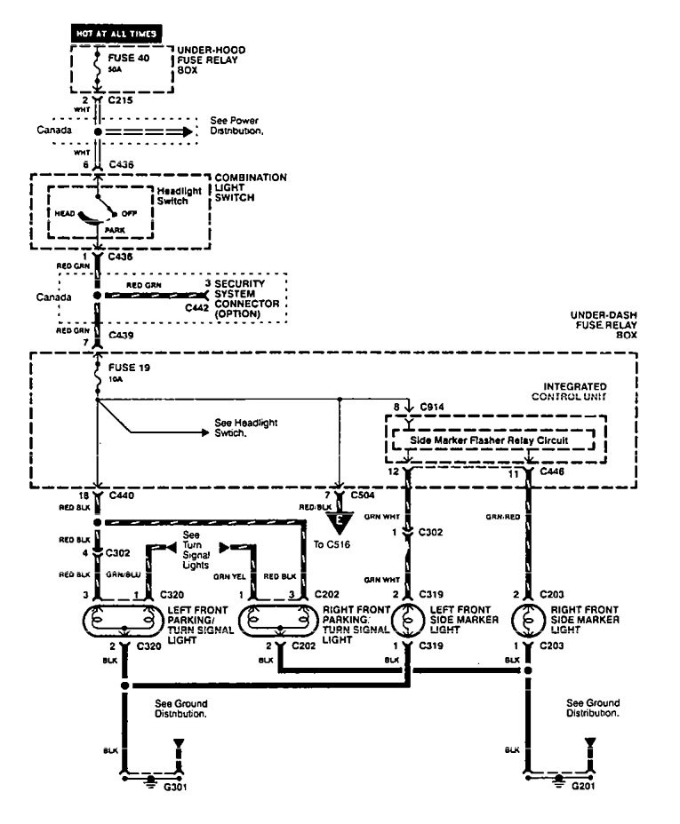 Acura Integra (1995 - 1997) - wiring diagrams - license plate lamp -  Carknowledge.infoCarknowledge.info