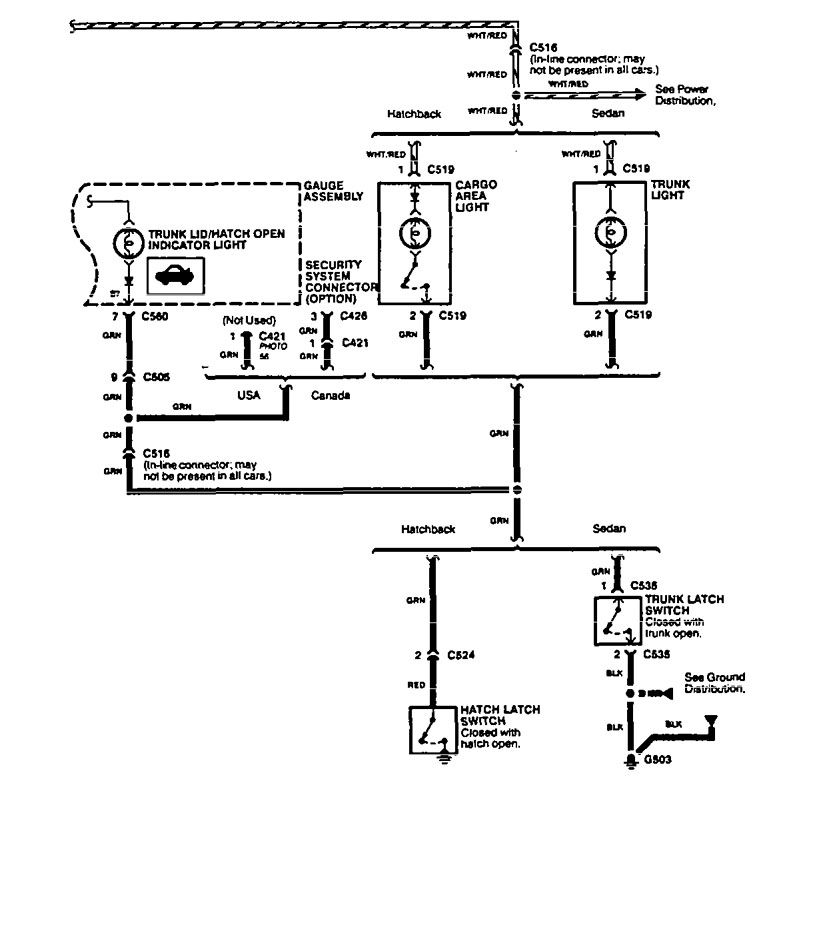 acura integra  1994 - 1996  - wiring diagrams