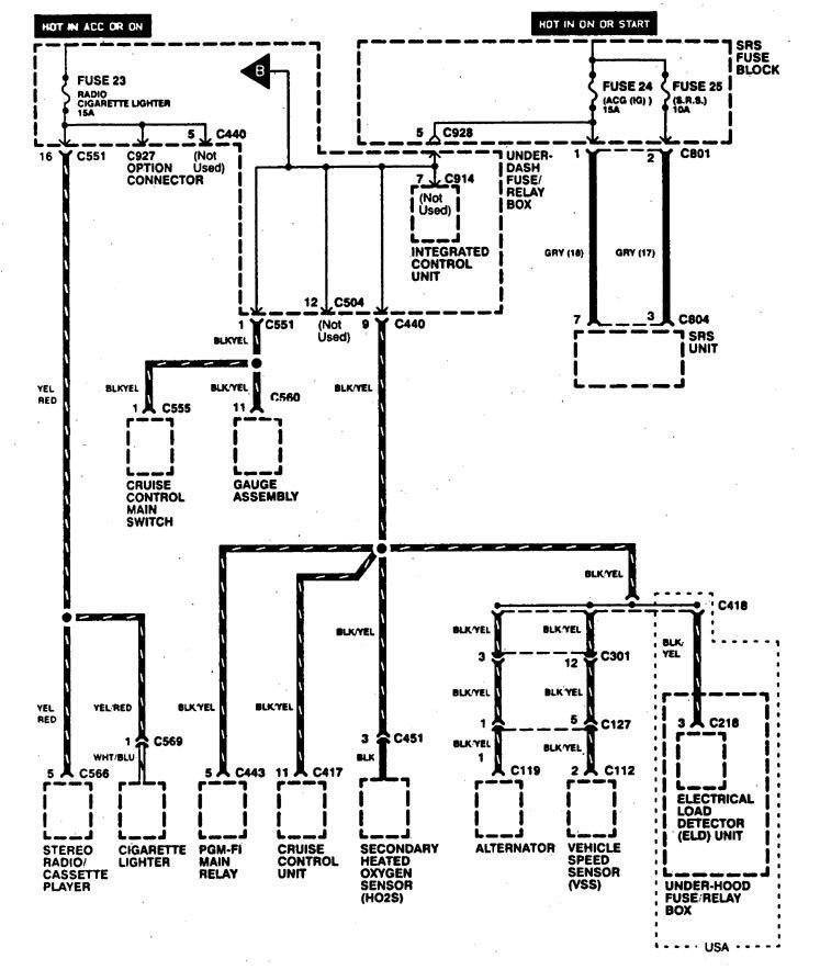 Acura Integra  1997  - Wiring Diagrams