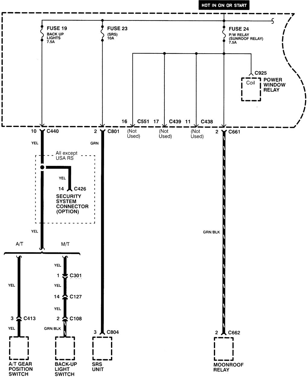Acura Integra 1998 2001 wiring diagrams power distribution