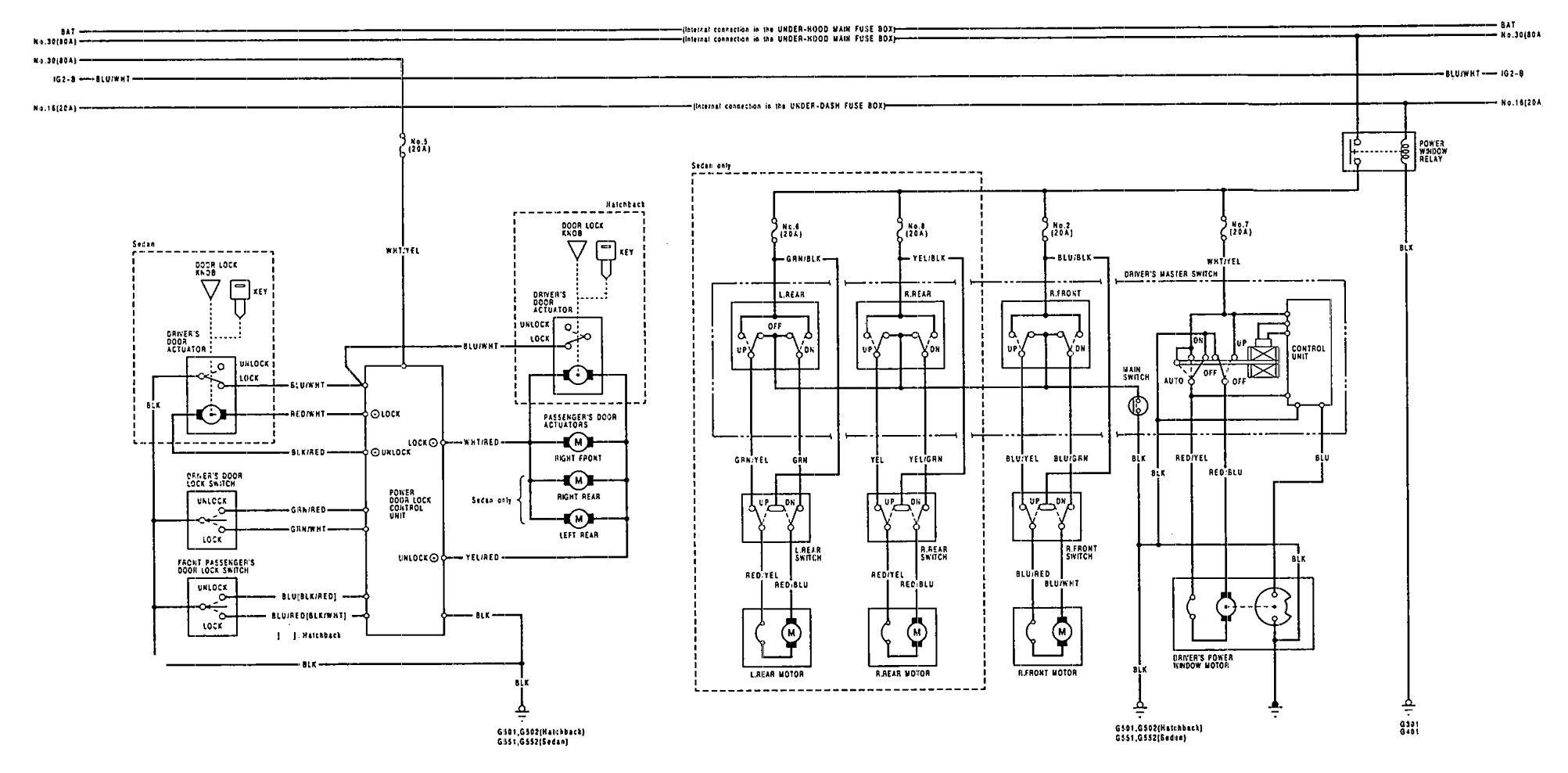 Wiring Diagram 1992 Acura Integra Diagrams Legend 1993 Power 1994 Engine Headlight