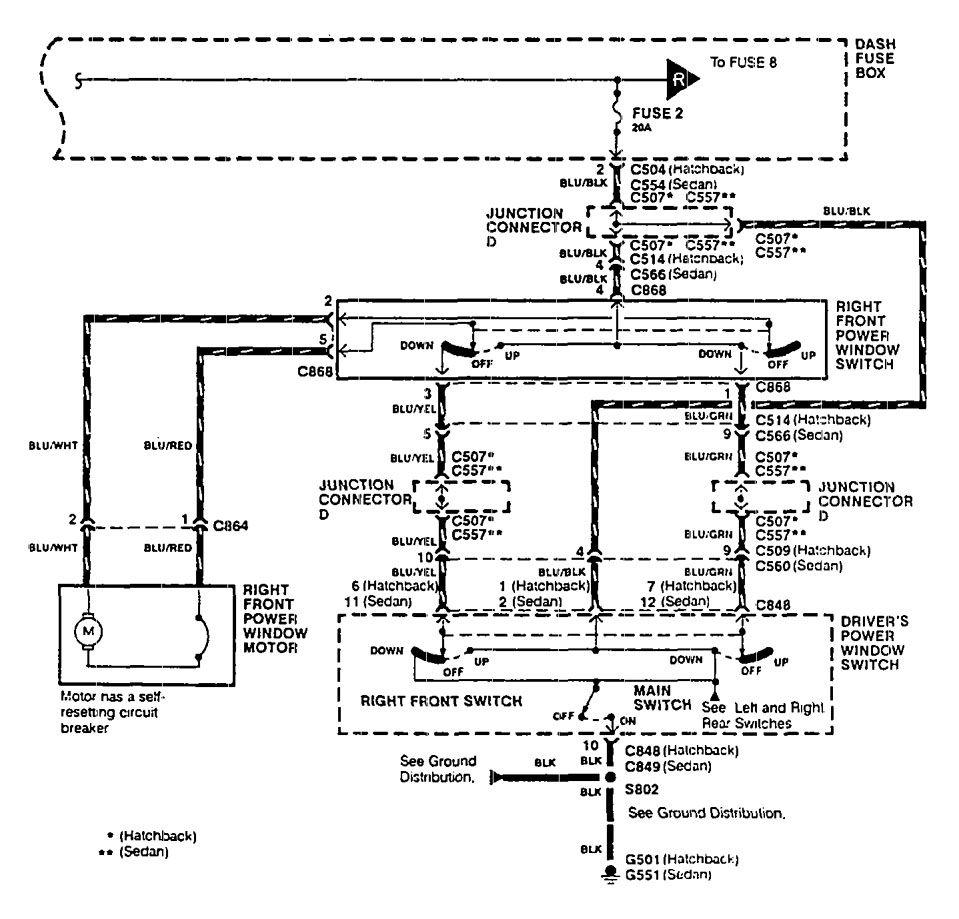 Acura Integra 1990 Wiring Diagrams Power Windows Carknowledge Info