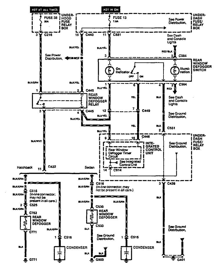 1994 Acura Integra Fuse Diagram