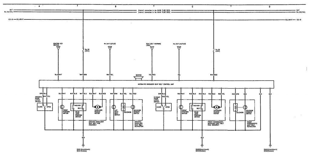 acura integra 1991 wiring diagrams seat belt. Black Bedroom Furniture Sets. Home Design Ideas