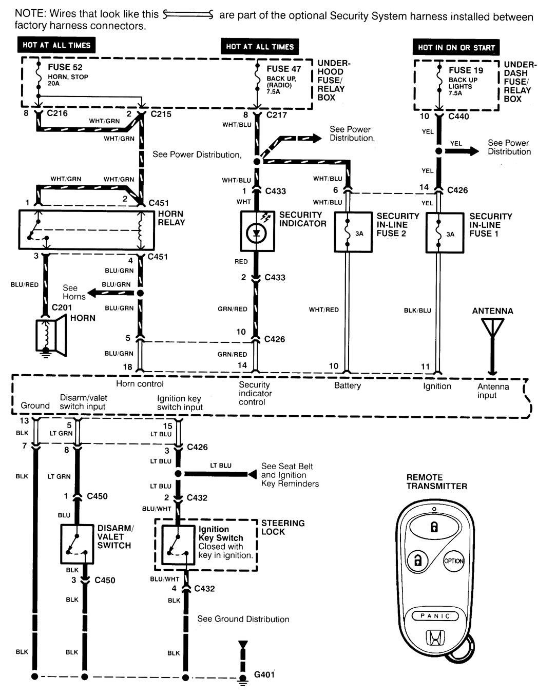acura integra  1998 - 1999  - wiring diagrams