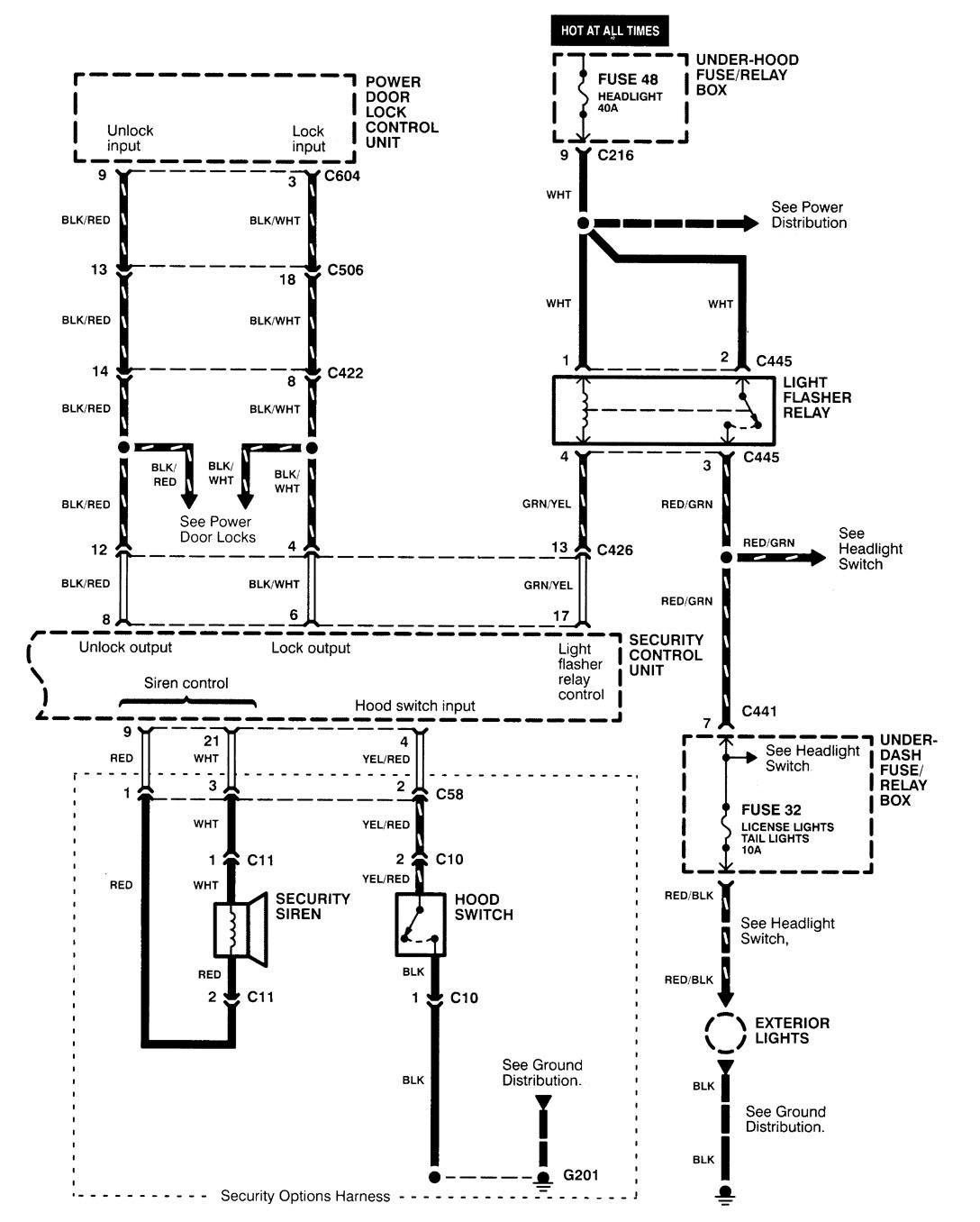 Acura Integra 2000 2001 Wiring Diagrams Security Anti Theft Diagram Part 2