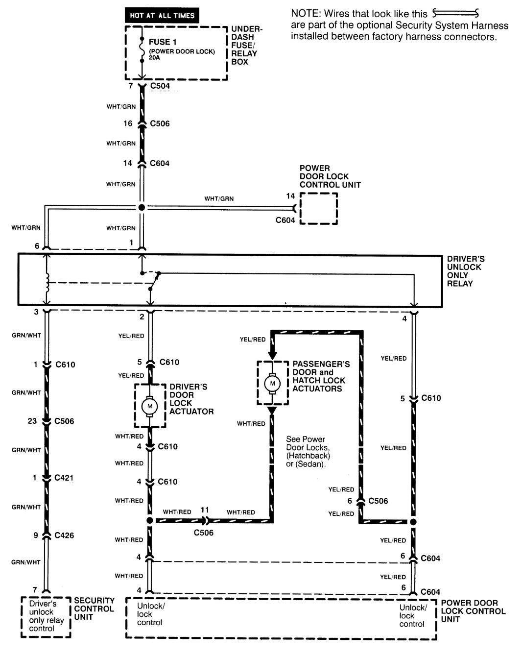 Acura Integra 2000 2001 Wiring Diagrams Security Anti Theft Diagram Part 5