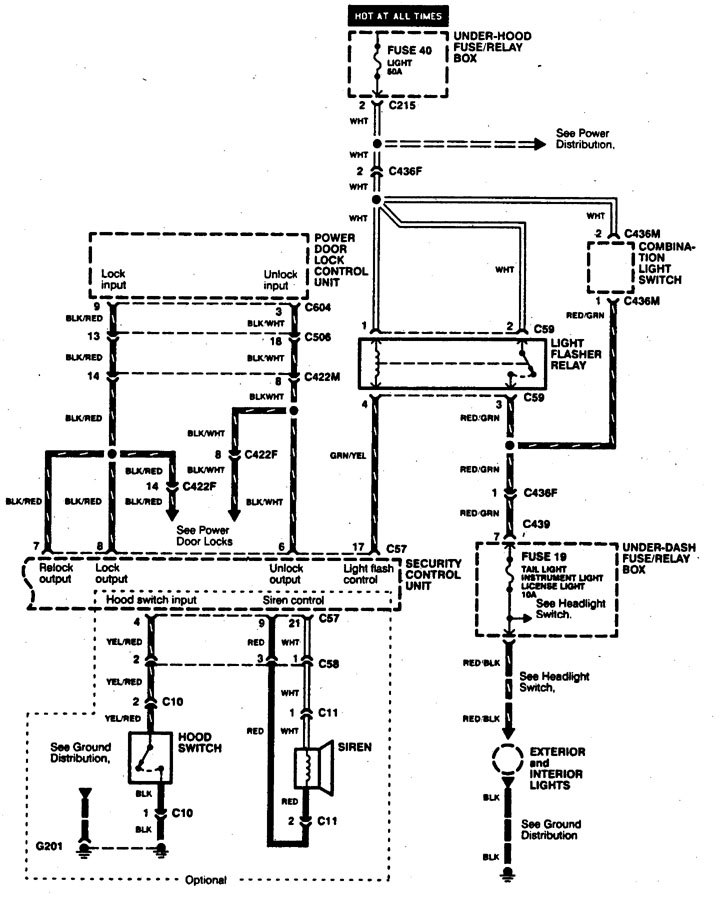 acura integra  1997  - wiring diagrams  anti