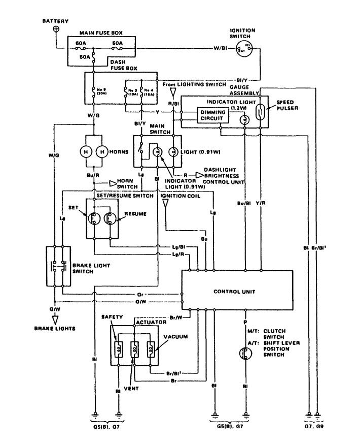 acura integra  1989  - wiring diagrams