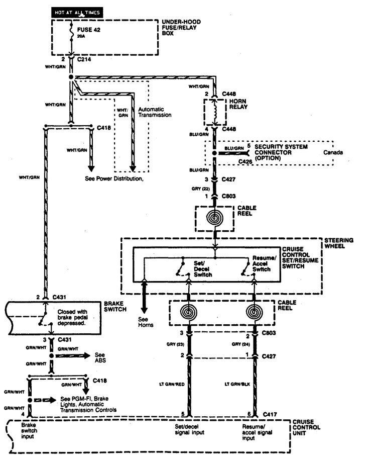 Acura Integra (1994 - 1997) - wiring diagrams - speed ...