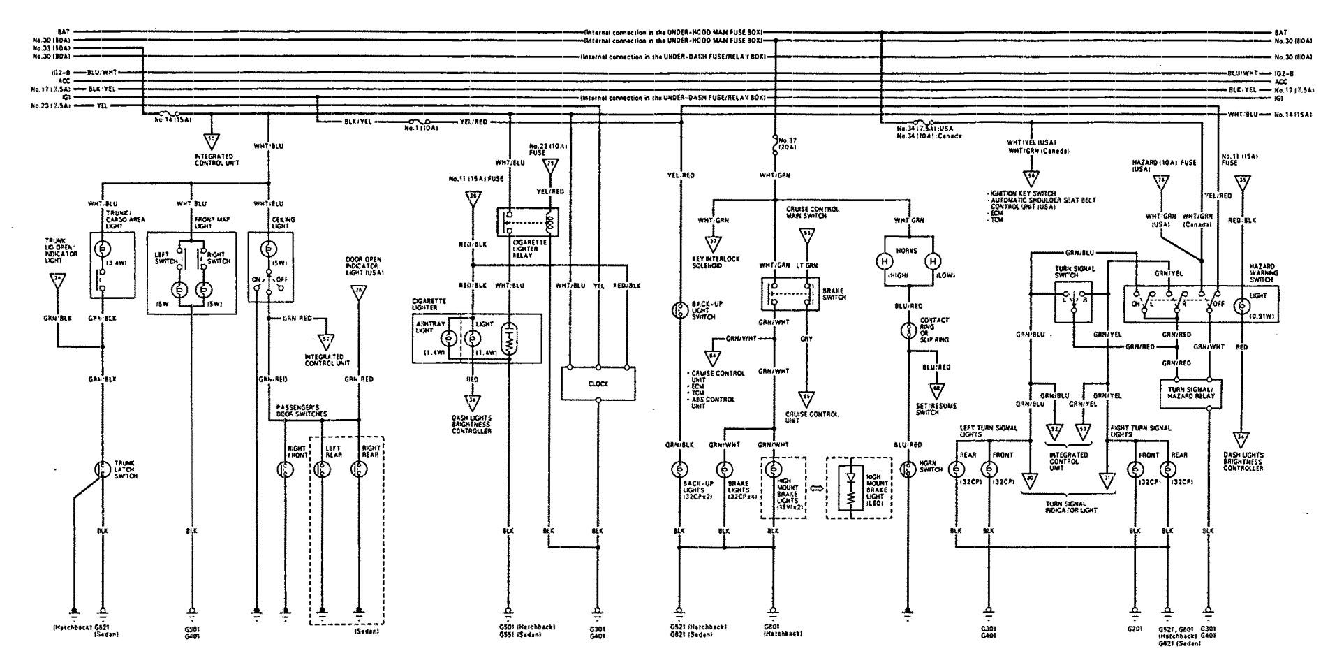 93 Acura Integra Wire Diagram Lights Electrical Wiring Diagrams 95 1993 Stop Lamp Carknowledge