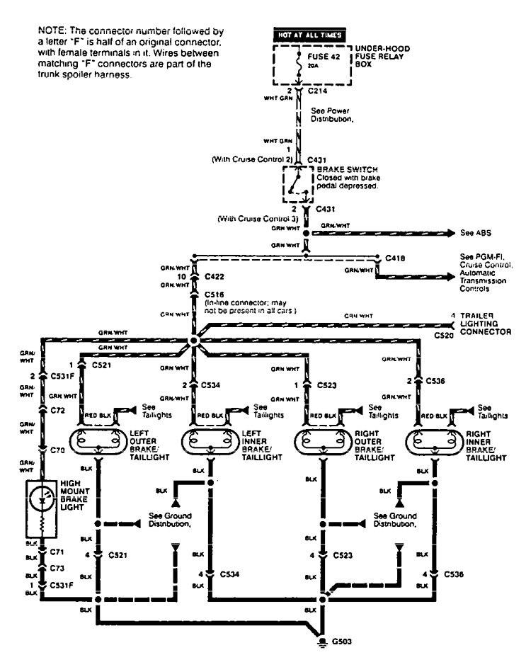 Acura Integra Wiring Diagram Stop Lamp V on Acura Vigor Turn Signal Wiring Diagram