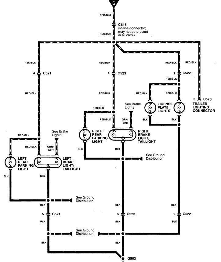 Acura Integra Wiring Diagram Tail Lamp V