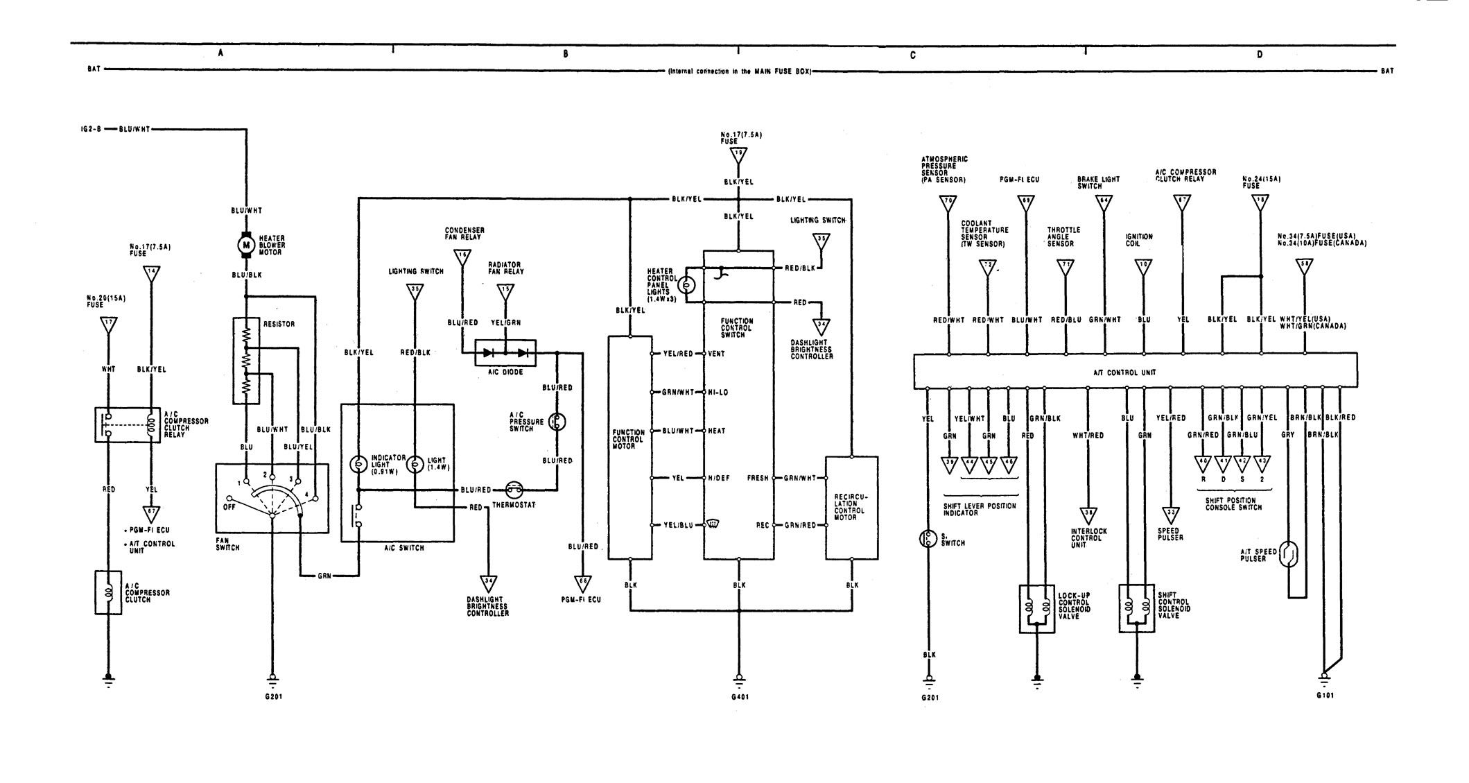 1991 acura integra wiring diagram 93 acura integra wiring diagram acura integra (1991) - wiring diagrams - transmission ...