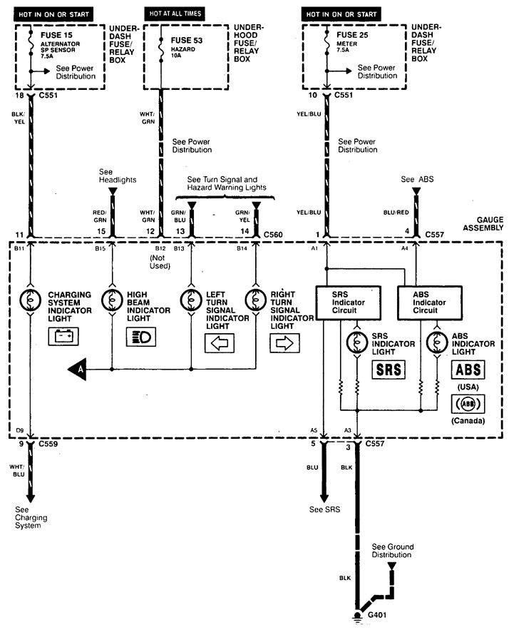 acura integra  1998 - 2001  - wiring diagrams