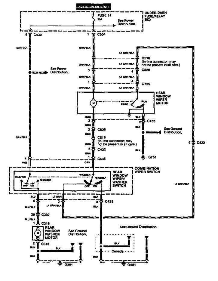 acura integra  1994 - 1995  - wiring diagrams