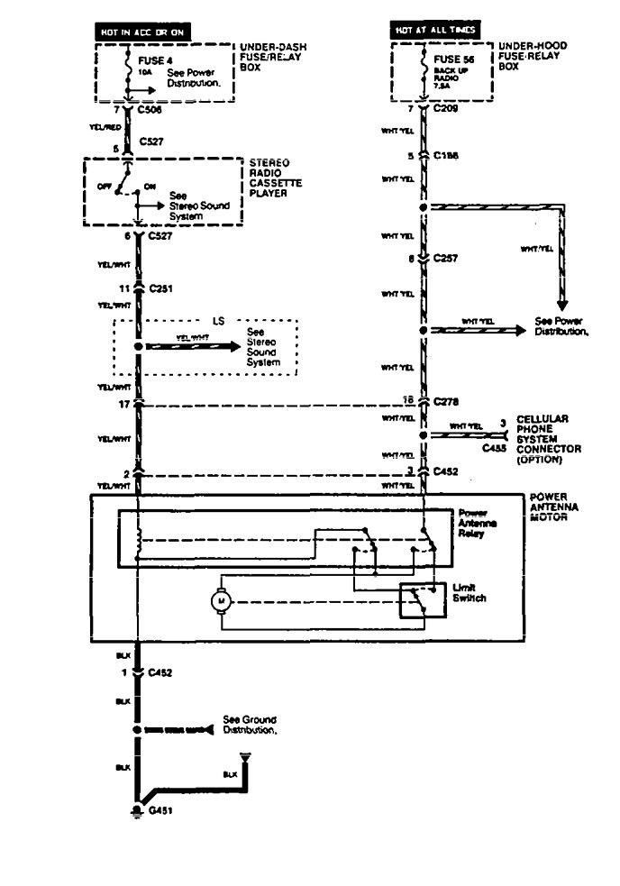 acura legenda  1994 - 1995  - wiring diagrams