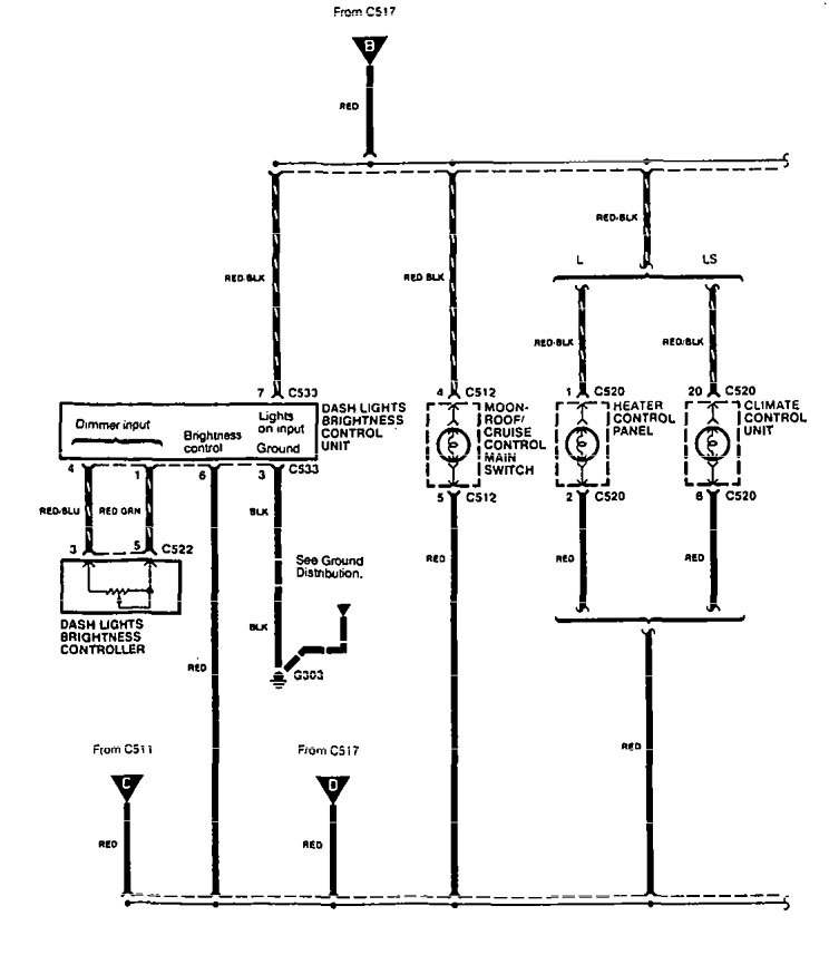 acura legend 1995 wiring diagram ashtray lamp. Black Bedroom Furniture Sets. Home Design Ideas