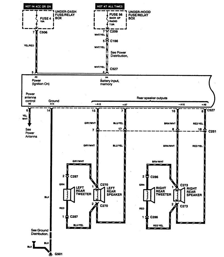 acura legend  1994  - wiring diagram - audio