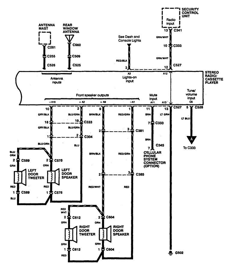 Acura Legend (1994) - wiring diagram - audio - Carknowledge.infoCarknowledge.info