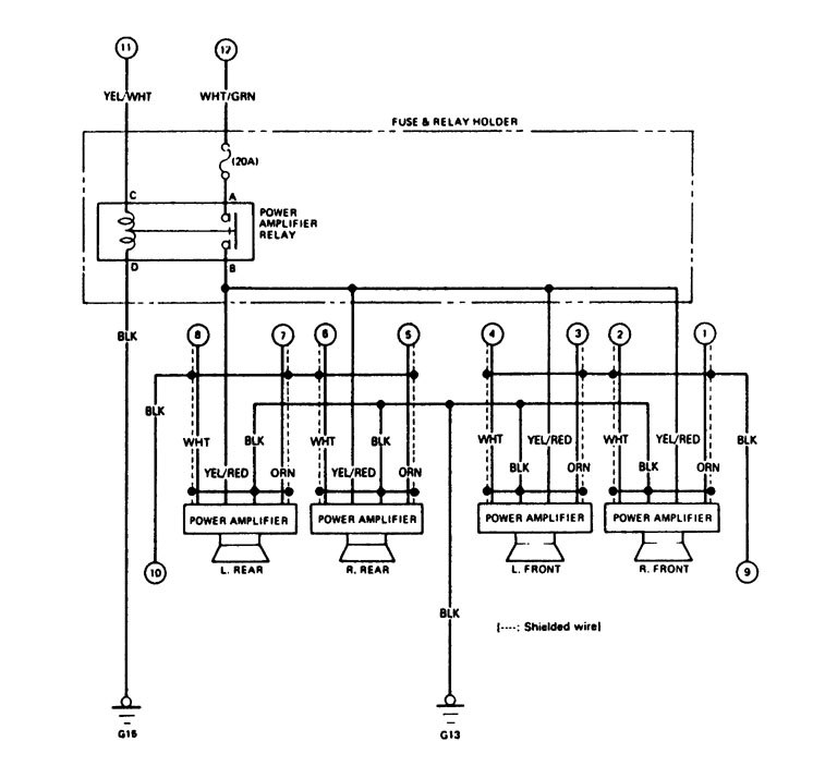 legend car wiring diagram acura legend (1988) - wiring diagram - audio - carknowledge