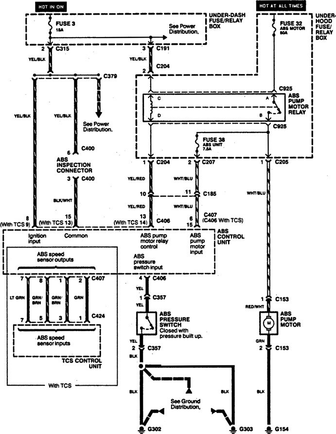 acura legend  1994  wiring diagram brake control carknowledge Car Wiring Harness Ford Wiring Harness Kits