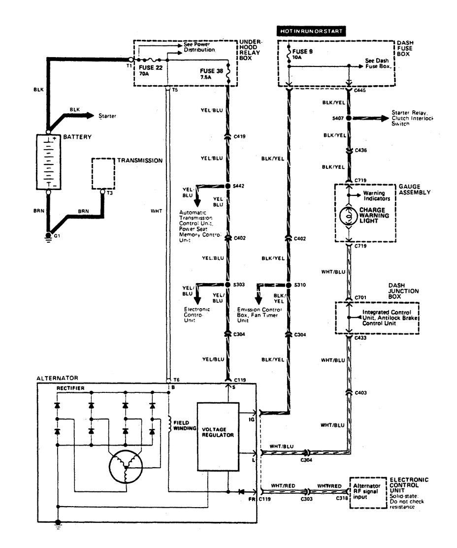 Acura Legend  1990  -wiring Diagram