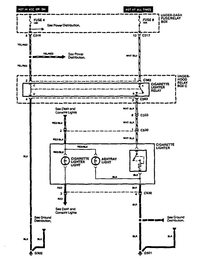 acura legend (1994 - 1995) - wiring diagram - cigar ... 89 acura legend wiring diagram 1994 acura legend wiring diagram