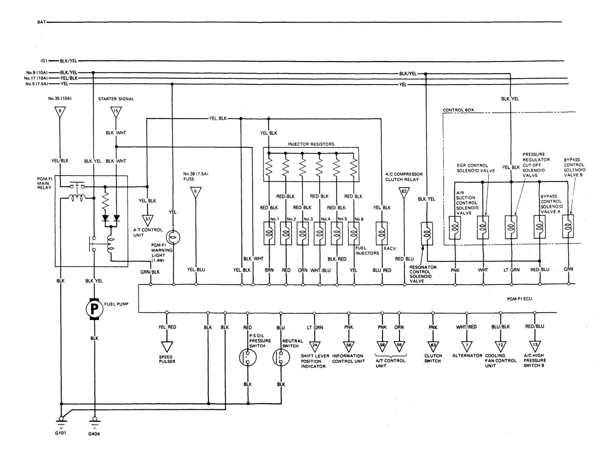 89 Acura Legend Wiring Diagram Trusted Diagrams 1989 Integra Ac System Computer Data Lines Carknowledge Winnebago