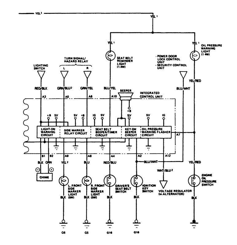 acura legend  1988  - wiring system