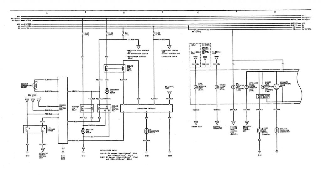 acura legend  1991  - wiring diagrams