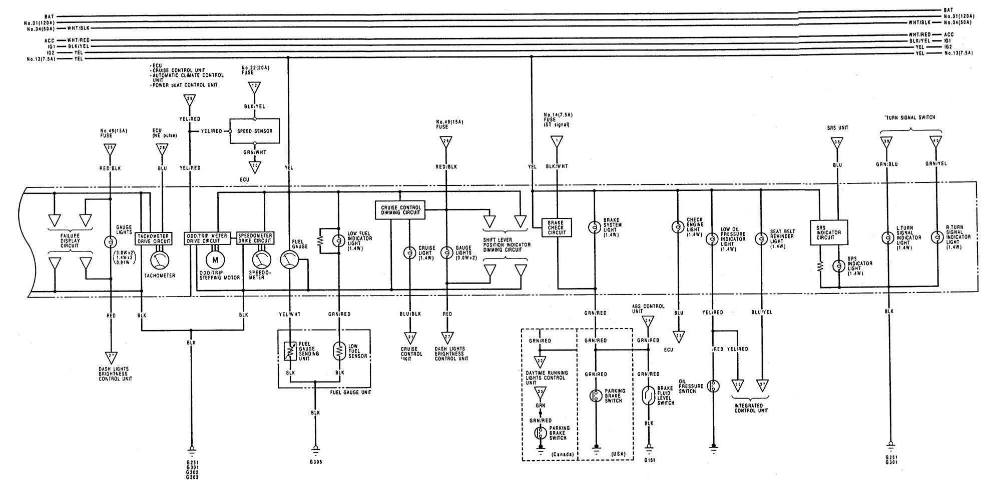 acura legend  1992  - wiring diagrams