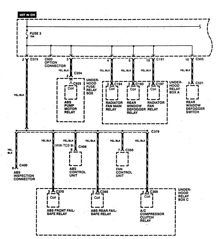 Acura Legend  1995  - Wiring Diagrams