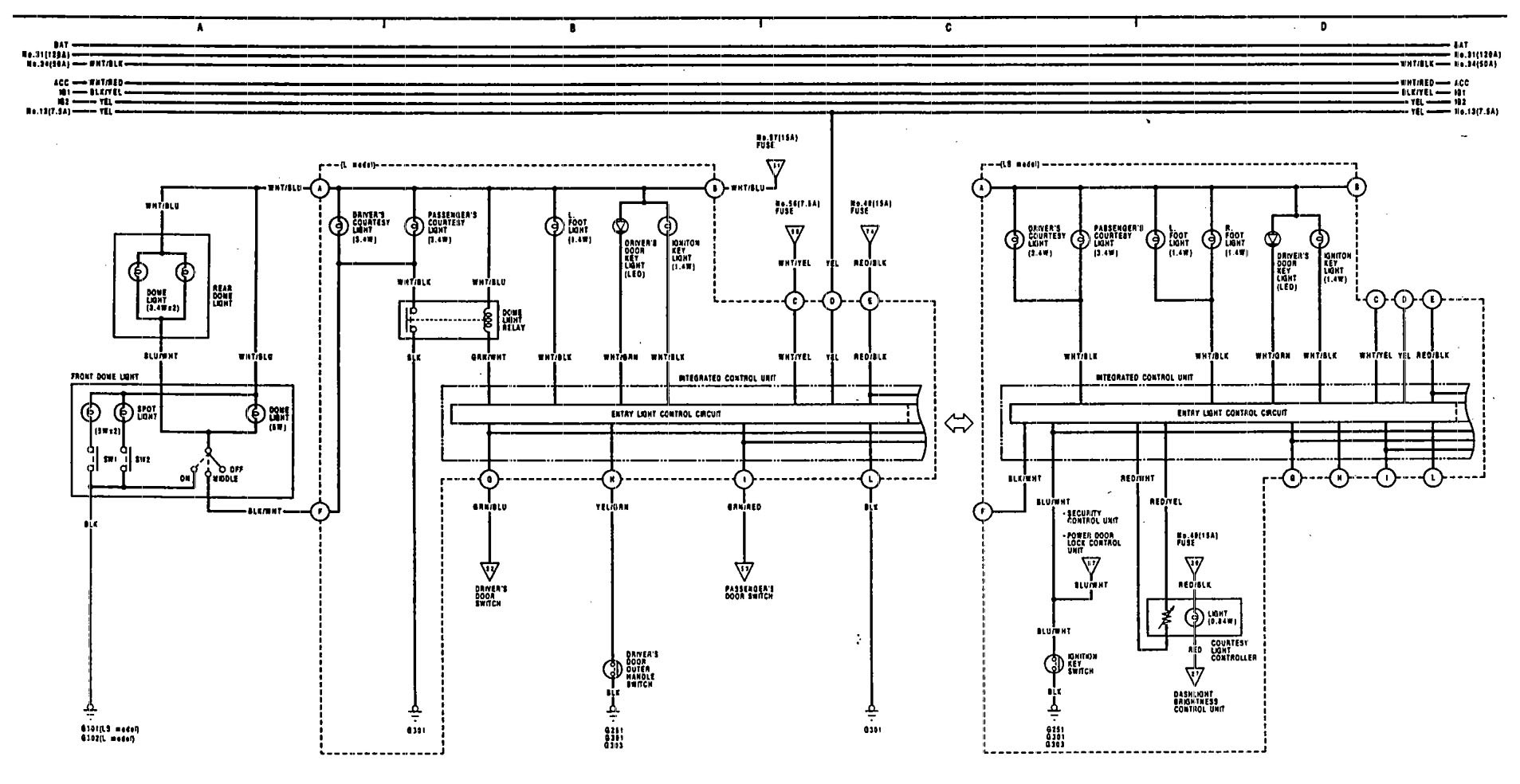 1991 Legend Wiring Diagram Free For You 1992 Acura Vigor Dome Lamp Electrical Honda Accord