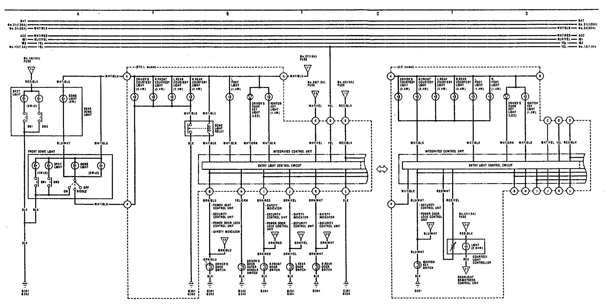 Wiring Diagram For 1991 Acura Legend 1990 Integra Vigor Fuse U2013 1992