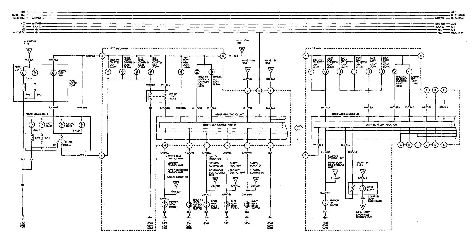 [DIAGRAM_38DE]  Acura Legend (1993) - wiring diagram - driver information center/message  center - Carknowledge.info | 1993 Acura Legend Wiring Diagram |  | Carknowledge.info