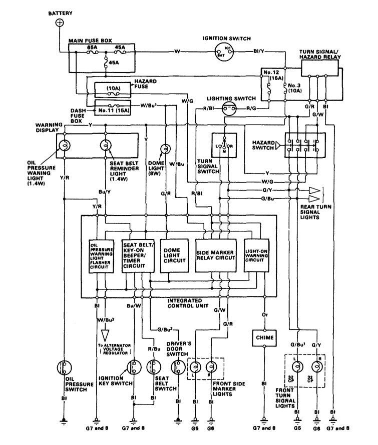 acura legend  1986  - wiring diagram