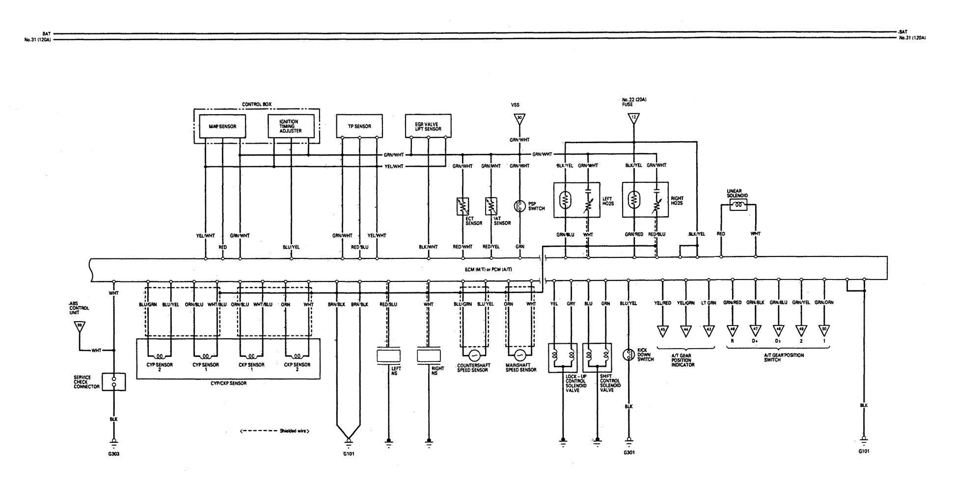 acura legend  1993  - wiring diagram - fuel control