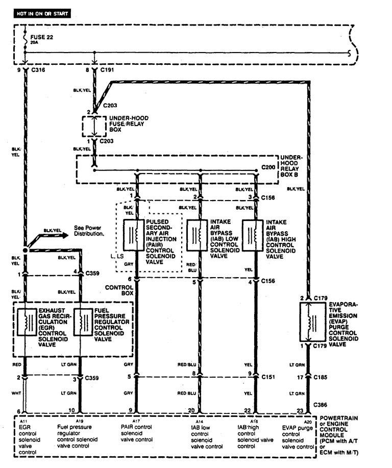 Acura Legend  1995  - Wiring Diagram