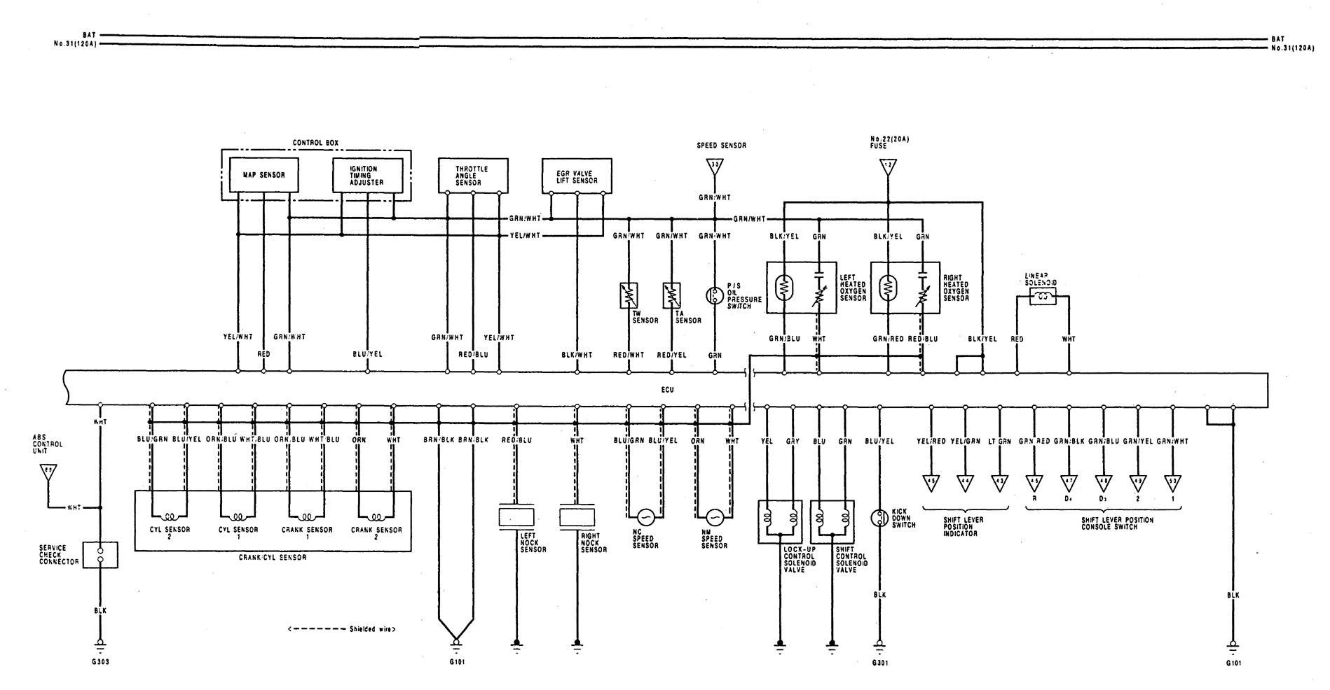 acura legend  1992  - wiring diagram