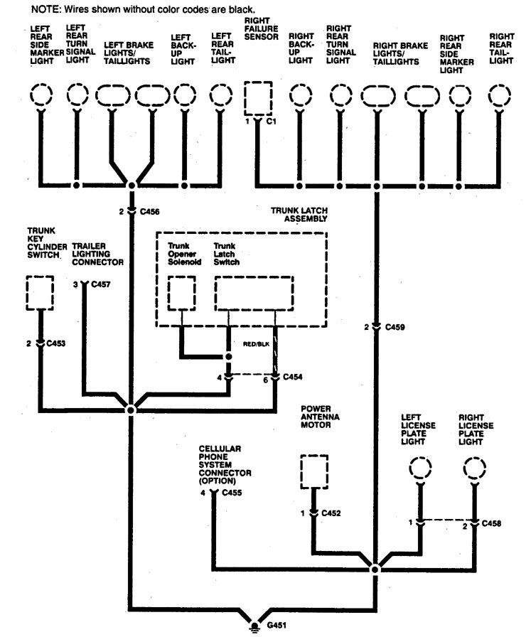Acura Legend 1994 Wiring Diagram Ground Distribution