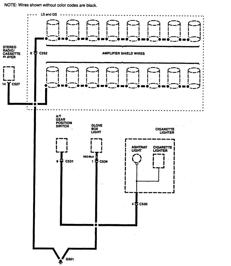 acura legend  1994  wiring diagram ground distribution carknowledge Wiring Harness Diagram Car Wiring Harness