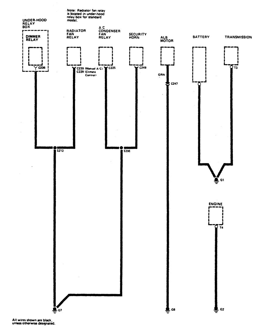 1990 Acura Legend Wiring Diagram Library U2013 Ground Distribution Part