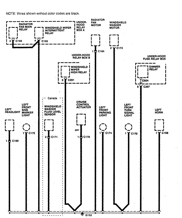 Acura Legend (1995) - wiring diagram - ground distribution -  Carknowledge.infoCarknowledge.info