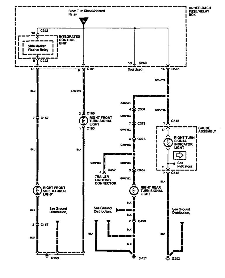 Acura Legend (1994 - 1995) - wiring diagram - hazard lamp ... on hazard relay diagram, hazard switch diagram, hazard safety,