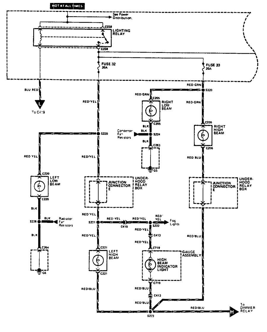 acura legend  1990  - wiring diagram