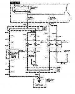 acura legend 1994 1995 wiring diagram headlamps. Black Bedroom Furniture Sets. Home Design Ideas