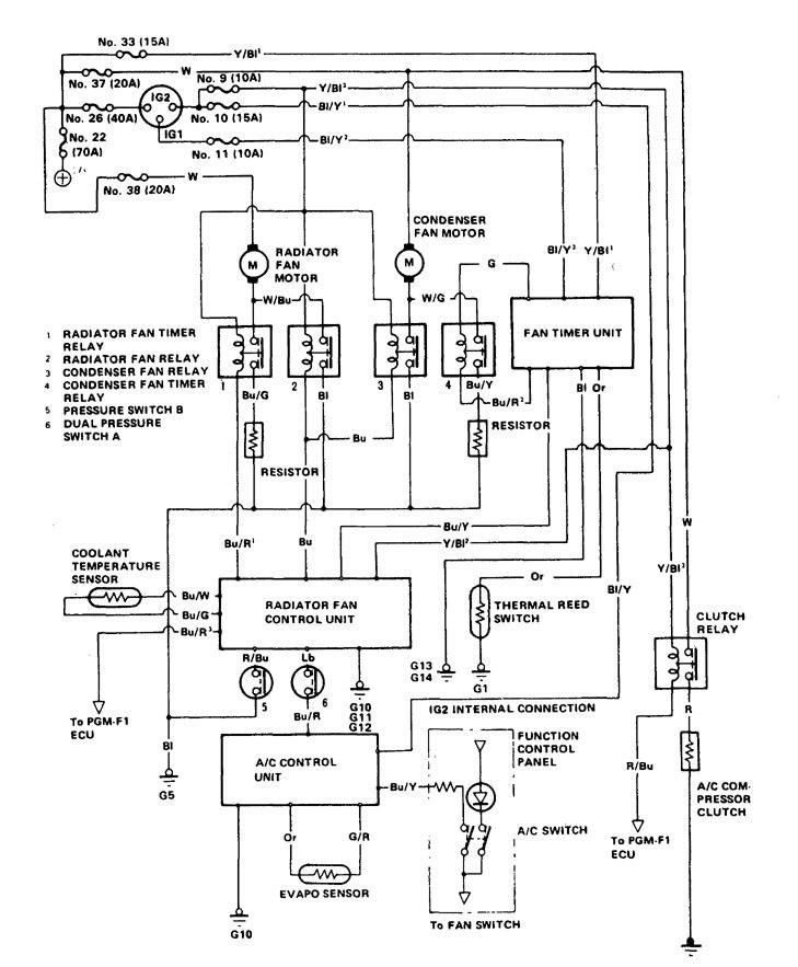 Hvac Wiring Diagram Legend : Acura legend  wiring diagram hvac