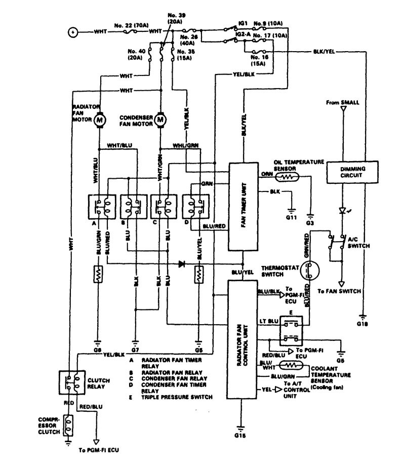 acura legend  1988  - wiring diagram